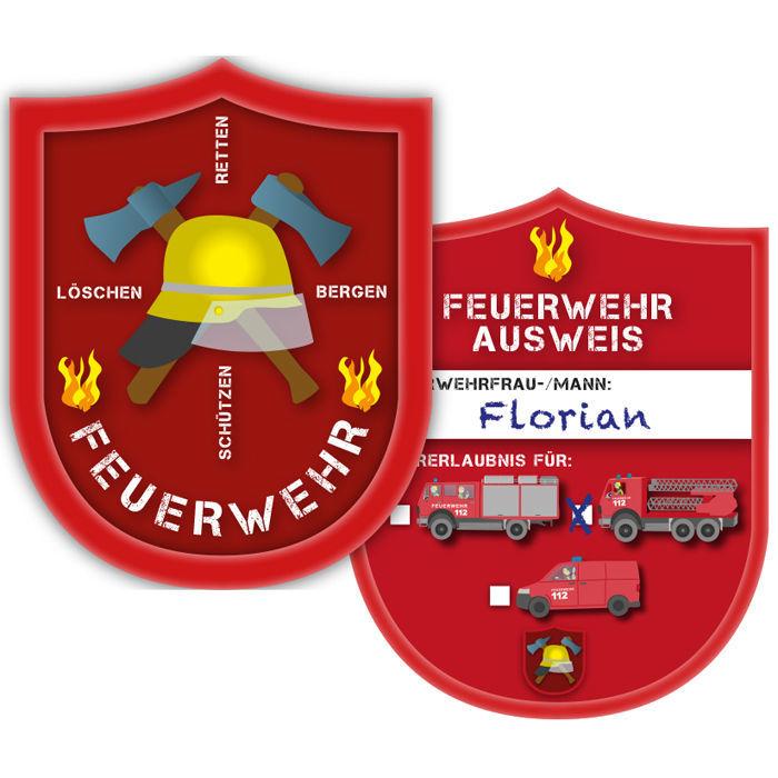 8d3098118bfd87 Ausweis Feuerwehr, 6 Stück - Mitgebsel / Give-aways Kinder-Party ...