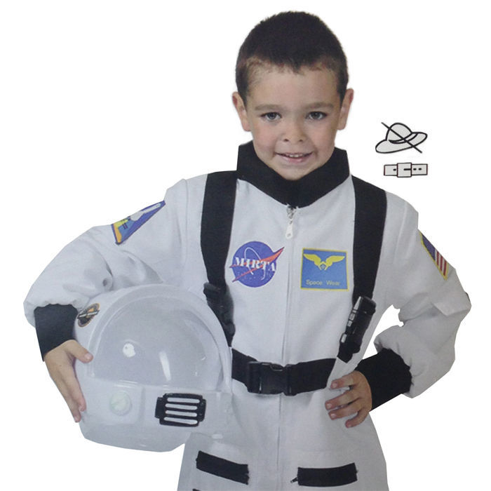 sale kinder kost m astronaut weiss gr e 116 polizist feuerwehr co kinderkost me nach. Black Bedroom Furniture Sets. Home Design Ideas