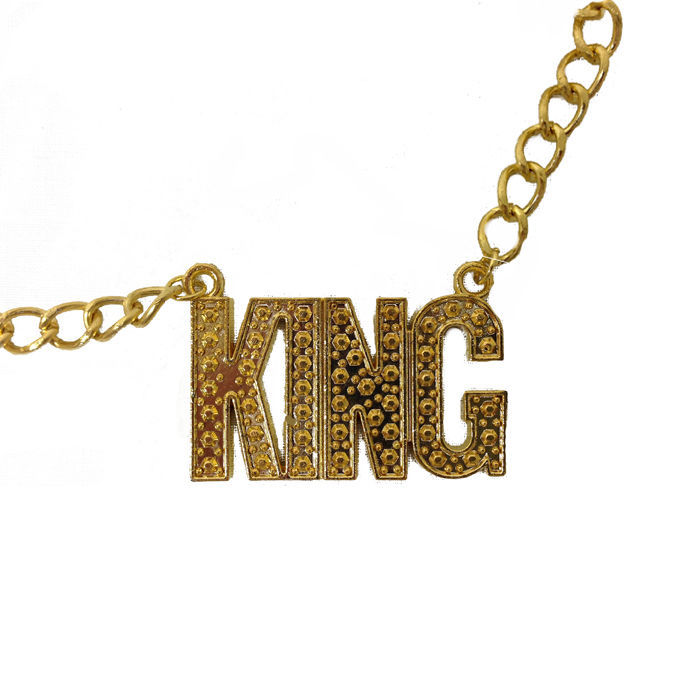 Goldkette gangster damen  Kette KING, gold - Halskette - Gangster - Rapper - | eBay