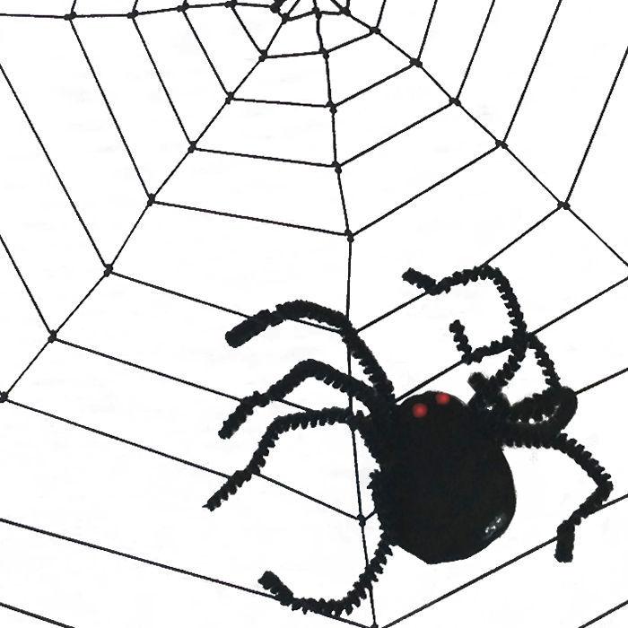 spinnennetz mit spinne schwarz ca 37cm halloween party dekoration halloween shop produkte. Black Bedroom Furniture Sets. Home Design Ideas