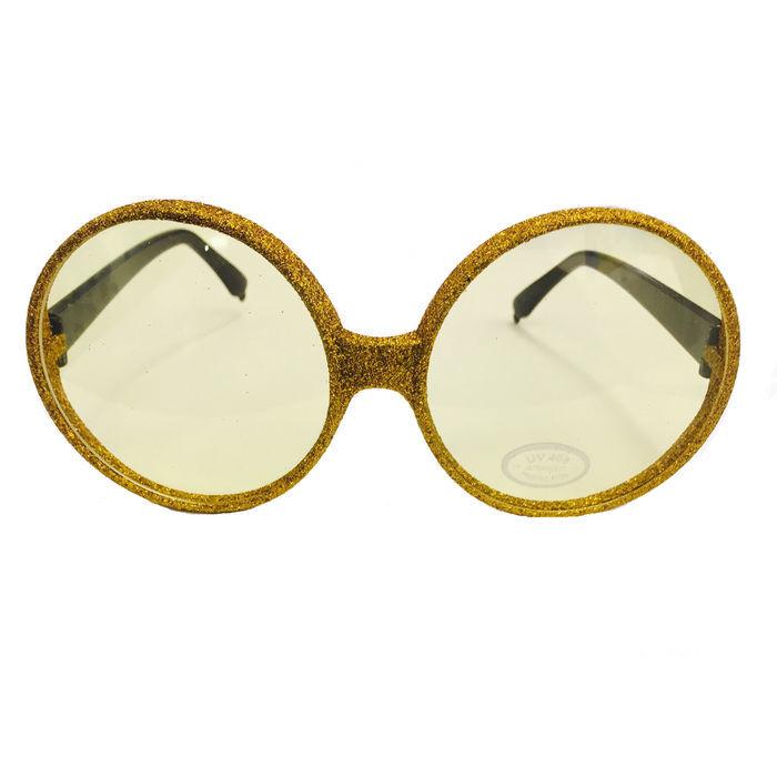 brille rund glitter gold brillen crazy classic. Black Bedroom Furniture Sets. Home Design Ideas