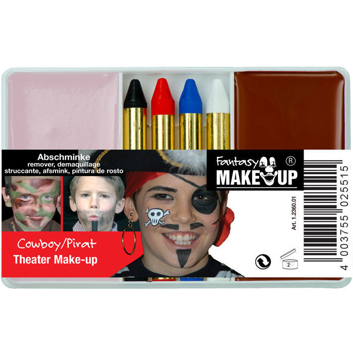 Schmink-Set Theater Make-Up dunkelbraun