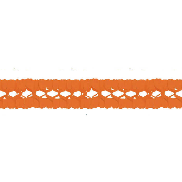 Girlande, 16cm x 16cm, 4 m lang, orange