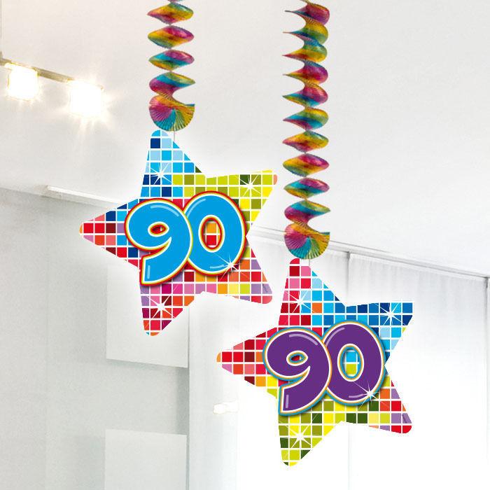 Girlande Blocks Spiralformig 90 2 Stk 75 Cm 90er Geburtstag