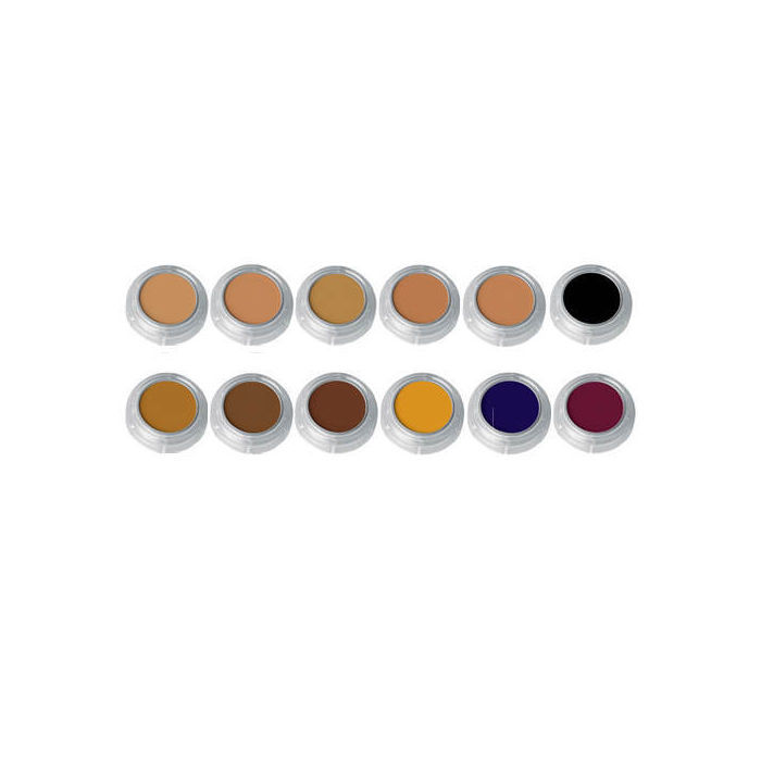 Grimas Camouflage Make-up 12-Farben-Palette, Farbe