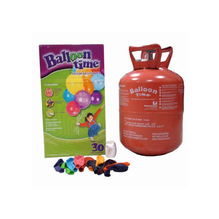 SALE Heliumflasche Balloon Time mit 30 Ballons
