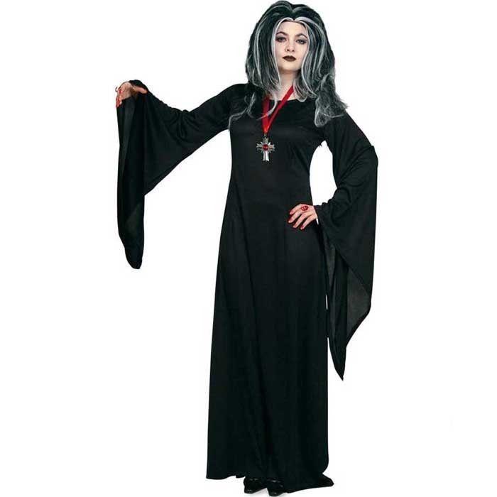 Damen Kostum Hexe Mortina Schwarz Gr 44 Hexenkostume