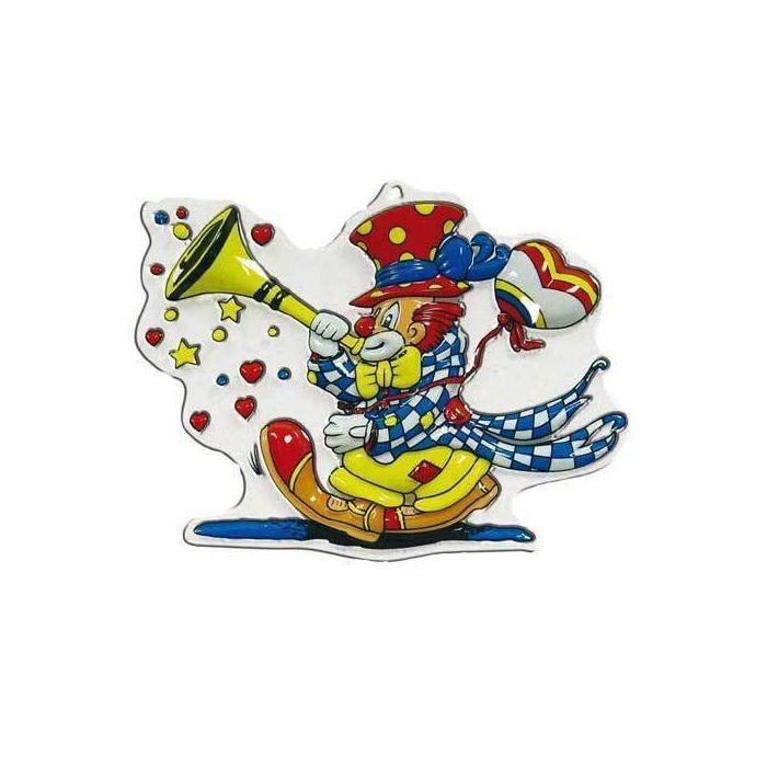 Wand-Deko Clown Mit Tröte, Höhe Ca. 30 Cm