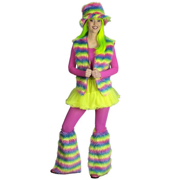 Sale Pluschweste Regenbogen Einheitsgrosse Damen Fracke Westen