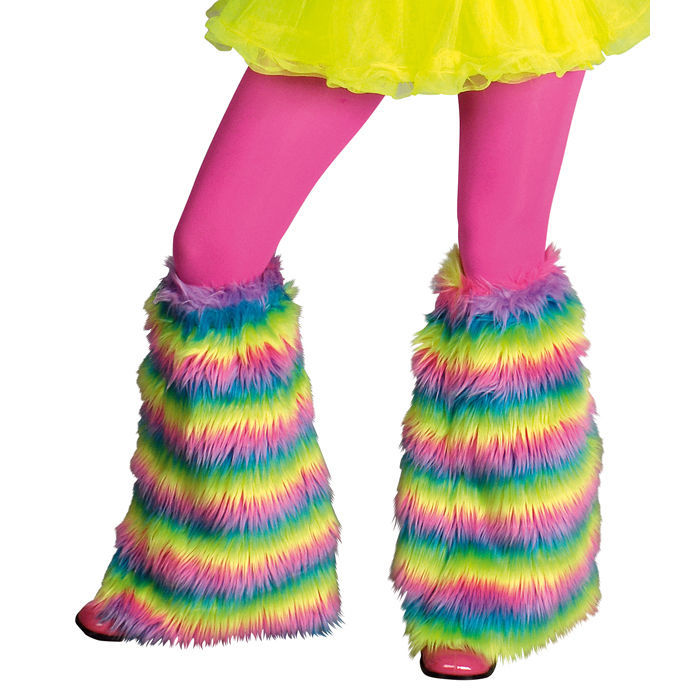 Große Farbauswahl bunt Hippie Karnevalskostüm Zubehör Stulpen Beinwärmer