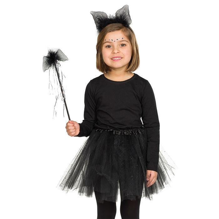 Neu Kinder Fledermaus Set Mit Haarreif Und Stab Kostumzubehor