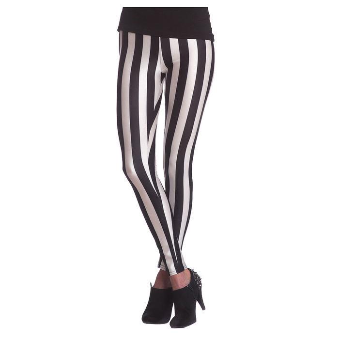 6fa9722ac1819c Leggings gestreift, schwarz-weiß, Größe S-M - Strümpfe ...