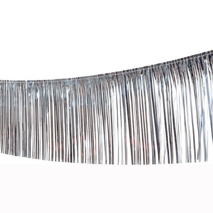 girlande lametta 10 m silber noch mehr deko hollywood hollywood party motto party produkte. Black Bedroom Furniture Sets. Home Design Ideas