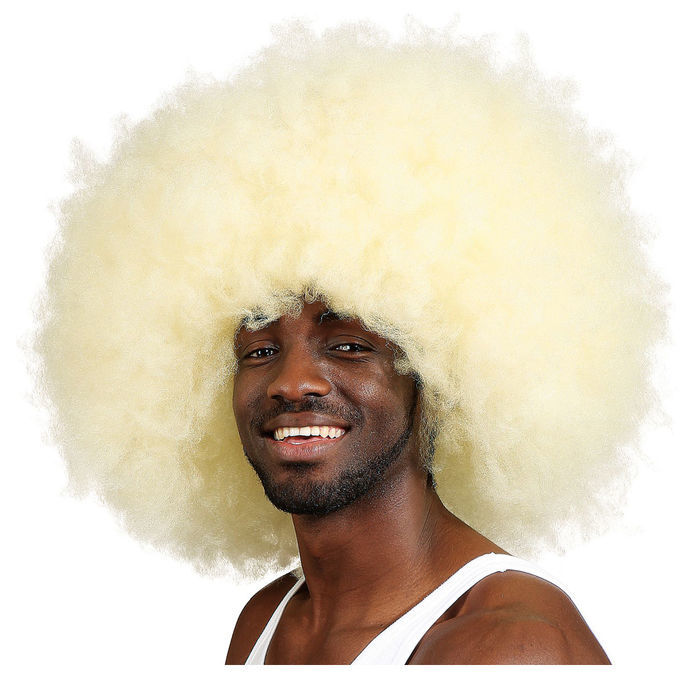 NEU Perücke Unisex Super-Riesen-Afro Locken, Jimmy, blond