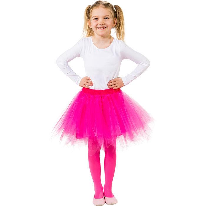 outlet store d51f6 fc9b1 NEU Tutu Tüllrock für Kinder, mehrlagig, pink, Gr. 116-140 ...