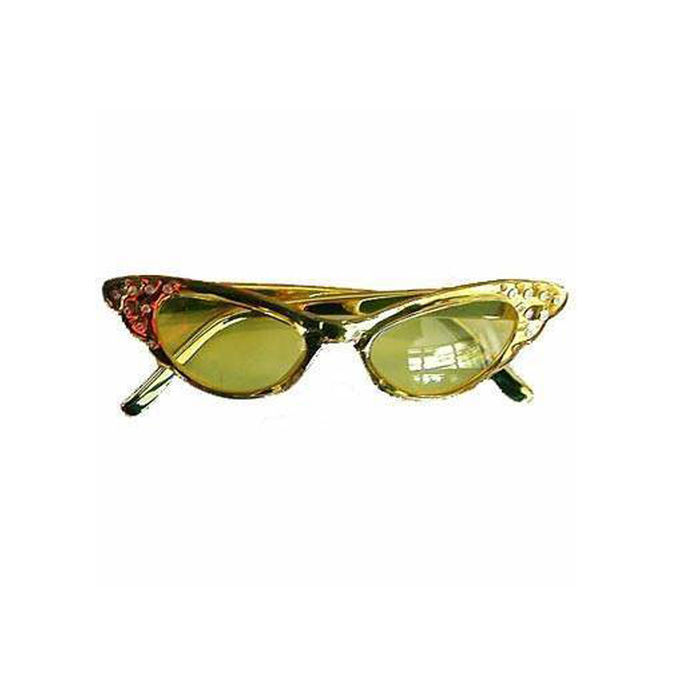 Brille Glamour mit Brillies, gold