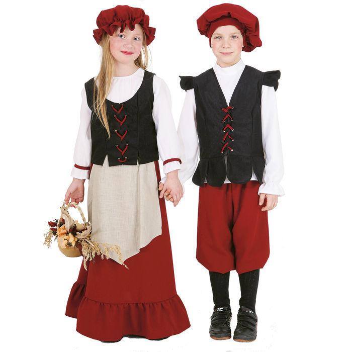 Kinder Kostum Bauern Junge Gr 152 Ritter Konige Mittelalter