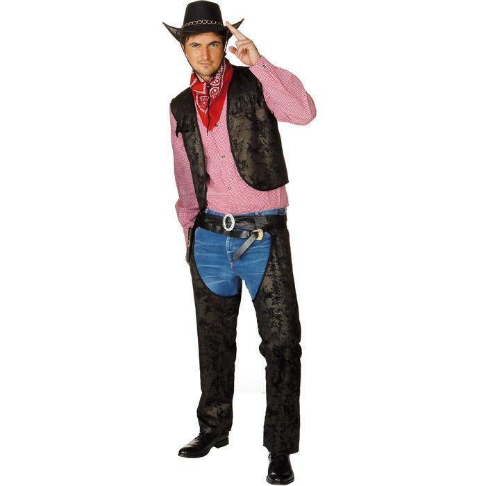 herren chaps cowboy schwarz gr 52 54 accessoires. Black Bedroom Furniture Sets. Home Design Ideas