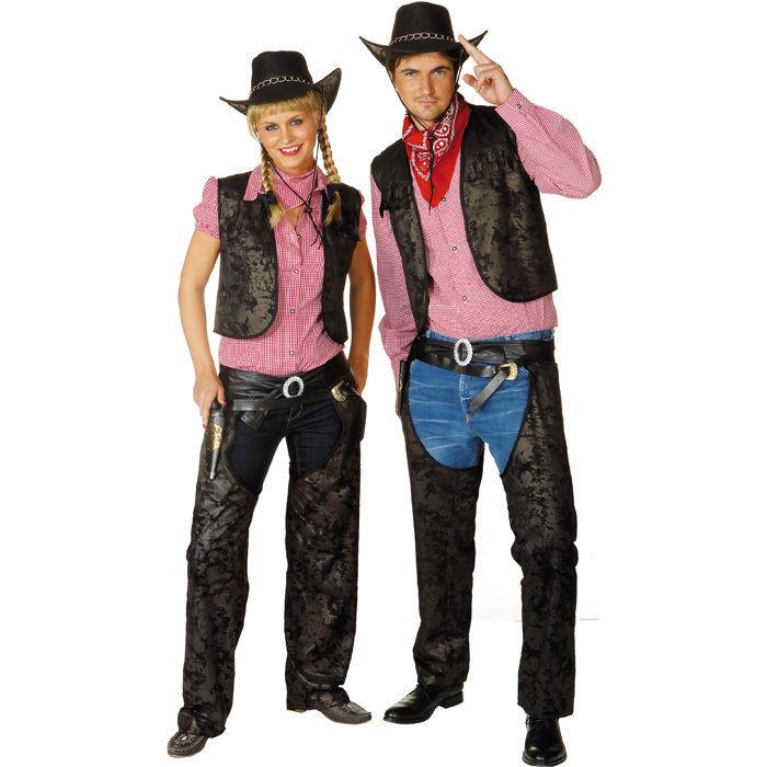 herren chaps cowboy schwarz gr 52 54 accessoires cowboy kost m accessoires themen kost m. Black Bedroom Furniture Sets. Home Design Ideas