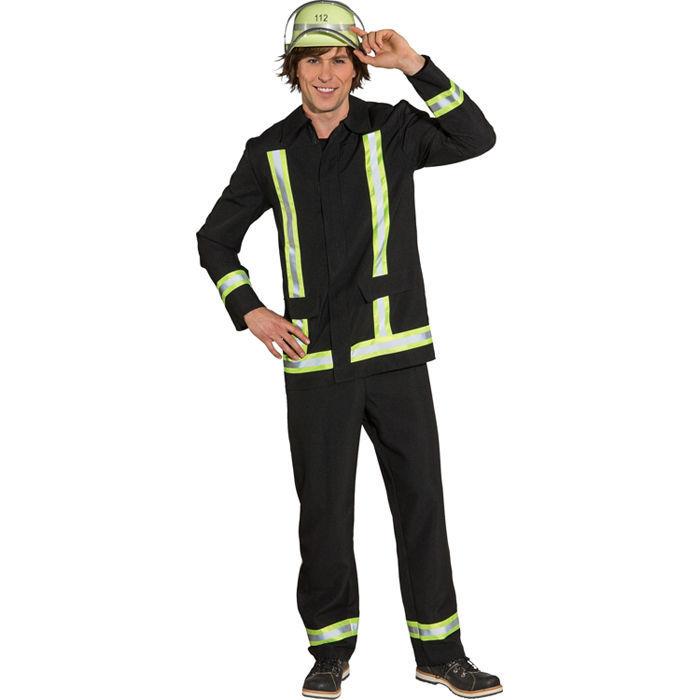 Herren Kostum Feuerwehrmann Schwarz Gr 54 56 Kostume Rund Um Den