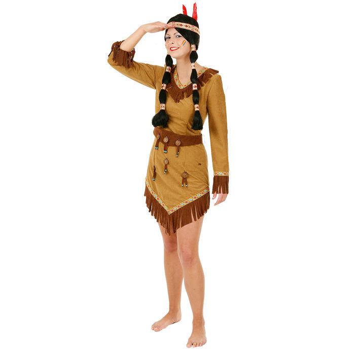 Damen Kostum Indianerin Arapacho Kleid Gr 36 Western Mexiko