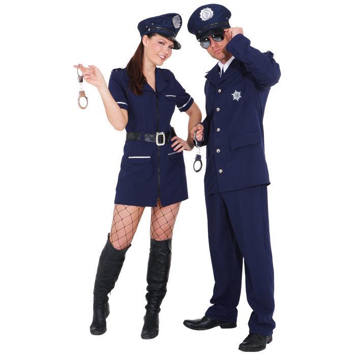 damen kost m sexy polizistin blau gr 36 polizei fbi. Black Bedroom Furniture Sets. Home Design Ideas