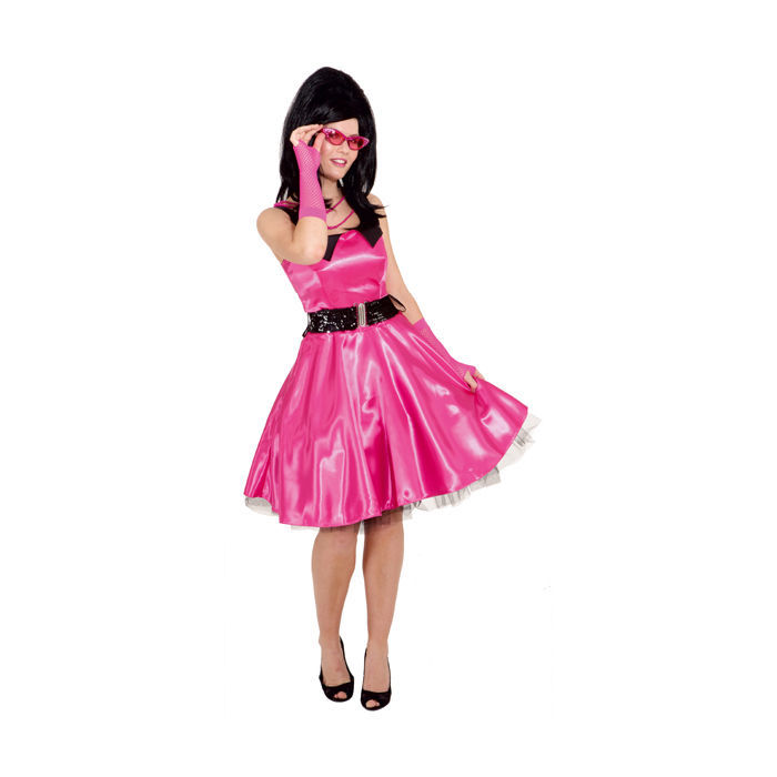 SALE Damen-Kostüm Sixties Petticoat pink Gr. 42 - 70er-Jahre-Kostüme ...
