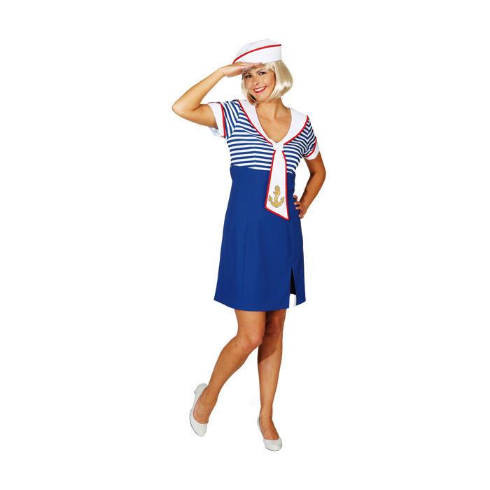 Damen-Kostüm Matrosenkleid Ahoi, Gr. 42 - Matrosin & Kapitän Kostüme ...