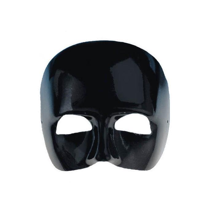 maske phantom obere gesichtsh lfte schwarz venezianische masken masken venezia latex. Black Bedroom Furniture Sets. Home Design Ideas