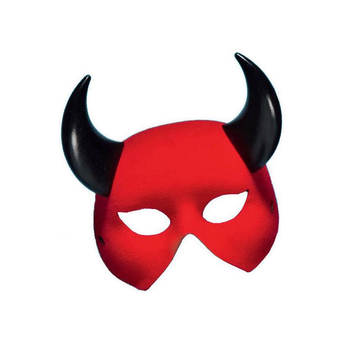 maske teufel rot mit schwarzen h rnern venezianische masken masken venezia latex kost m. Black Bedroom Furniture Sets. Home Design Ideas