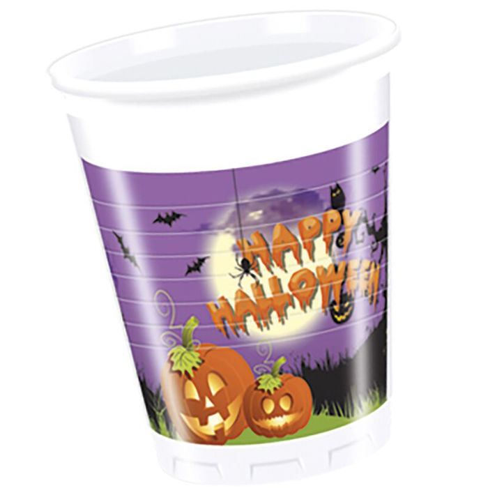 Becher Spooky Halloween, 200 ml, 8 Stk.