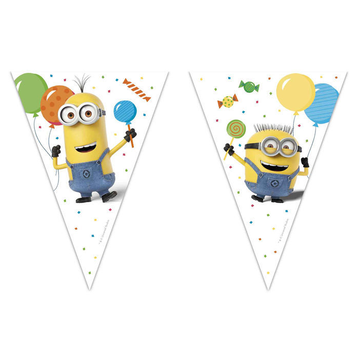 SALE Wimpelkette Minion Party, 2,3 m