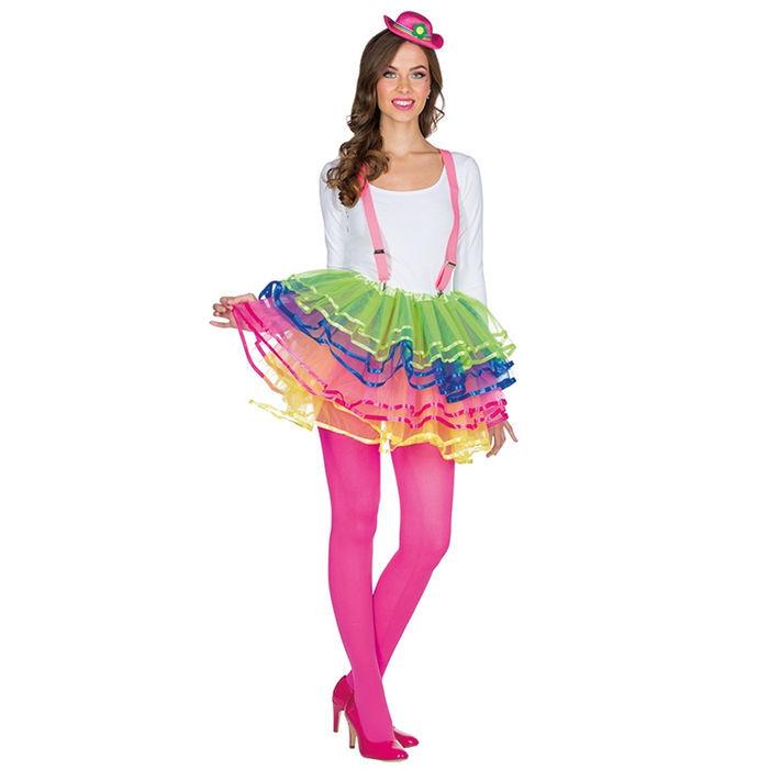 superior quality 71f4c 2ffdd Tüllrock Clown mehrlagig, bunt - Petticoats & Röcke Kostüme ...