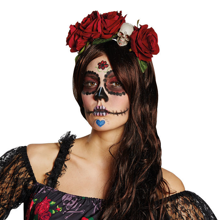 haarreif la catrina 1 st ck halloween accessoires halloween shop produkte party. Black Bedroom Furniture Sets. Home Design Ideas
