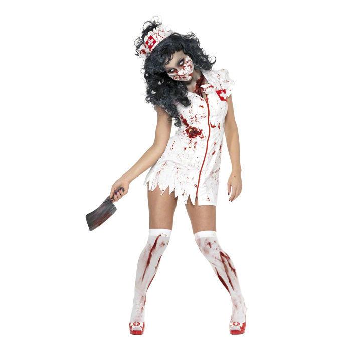 damen kostum zombie krankenschwester gr s