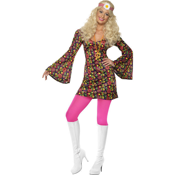 SALE Damen-Kostüm, Peace Kleid, Glockenärmel, Gr.M - 50er   60er ... 83a77e2029