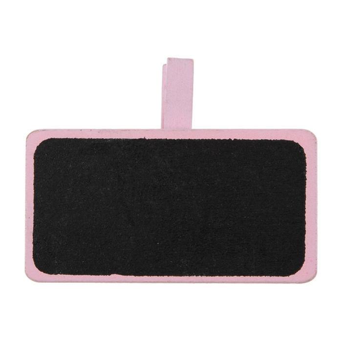 schiefertafel mit klammer rosa 4x2cm 12 stk 1er. Black Bedroom Furniture Sets. Home Design Ideas