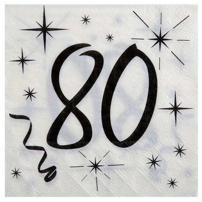 50er Jahre Servietten 16er-Set NEU Partyartikel Dekoration Karneval Fasching