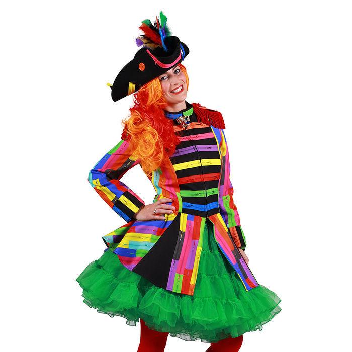 Hut brauner Dreispitz m Feder Pirat Piratin Barock Piratenhut Karneval Fasching