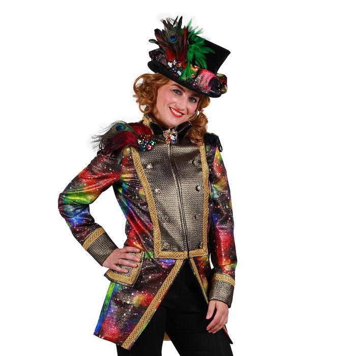 Damen Kostüm Karnevalsjacke Galaxy Deluxe, Gr. XXL Große