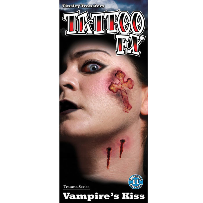 Tinsley Transfers Trauma Tattoo Vampire Kiss