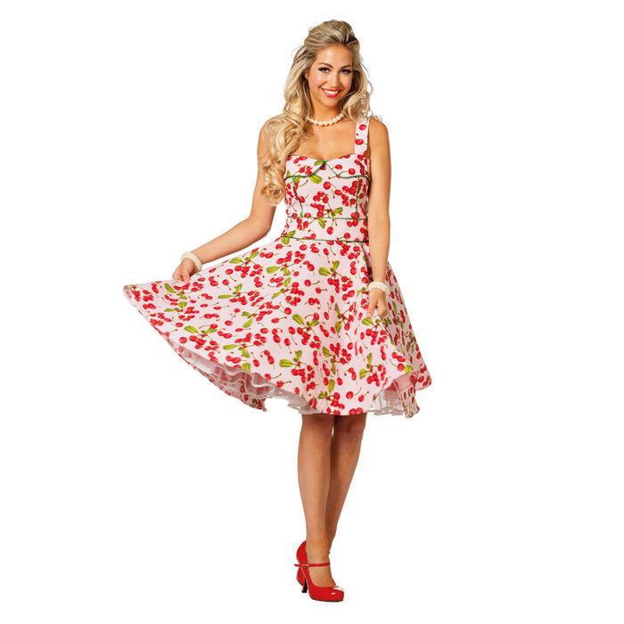 Damen-Kostüm Kleid Rock\'n\'Roll Cherry, Gr. 44 - 50er & 60er-Jahre ...