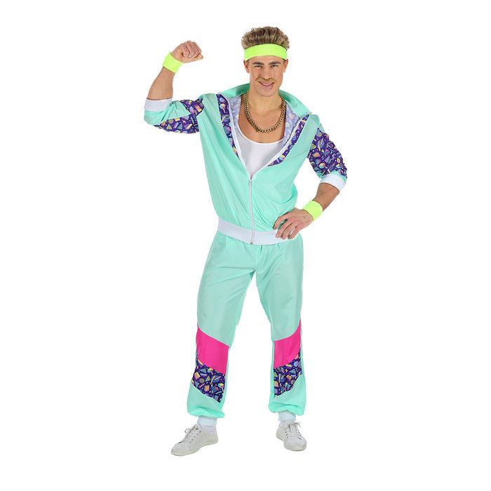 Herren Kostum Jogging Anzug Mint Gr S 80er Jahre Kostume