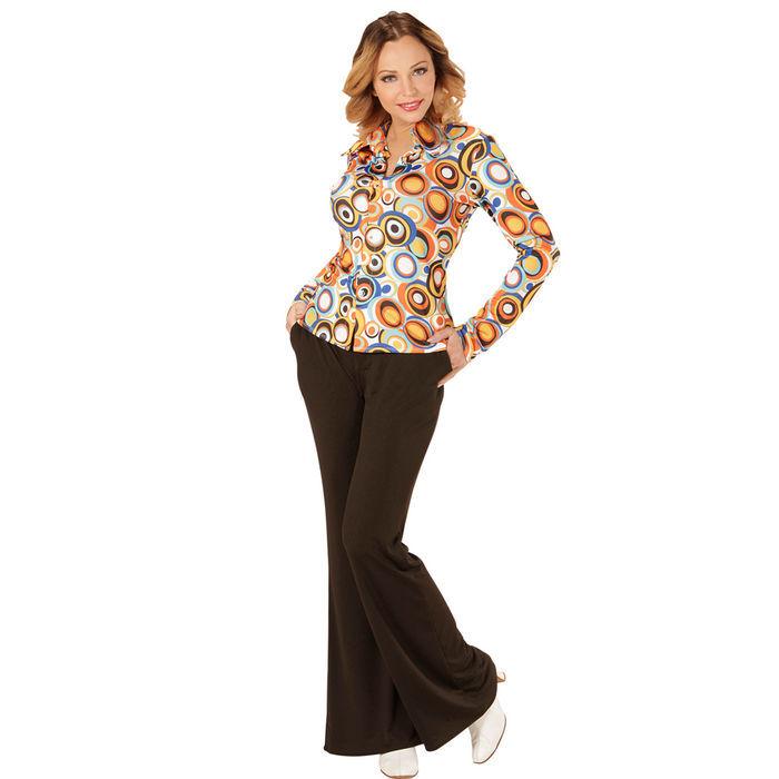 Damen kost m bluse bubbles gr l xl 70er jahre kost me - Hippie bluse damen ...