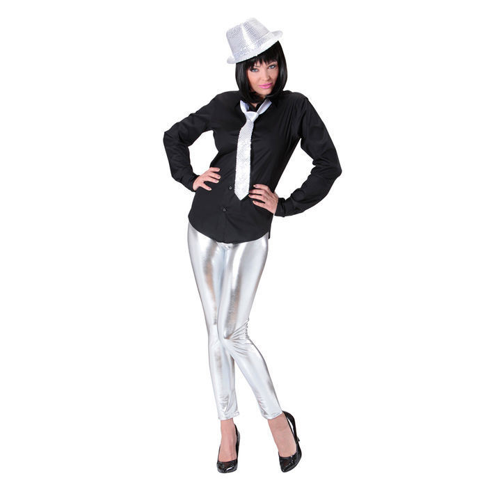 b186656085699e Leggings, silber, Gr. L-XL - Bodys & Strumpfhosen Kostüme für Damen ...