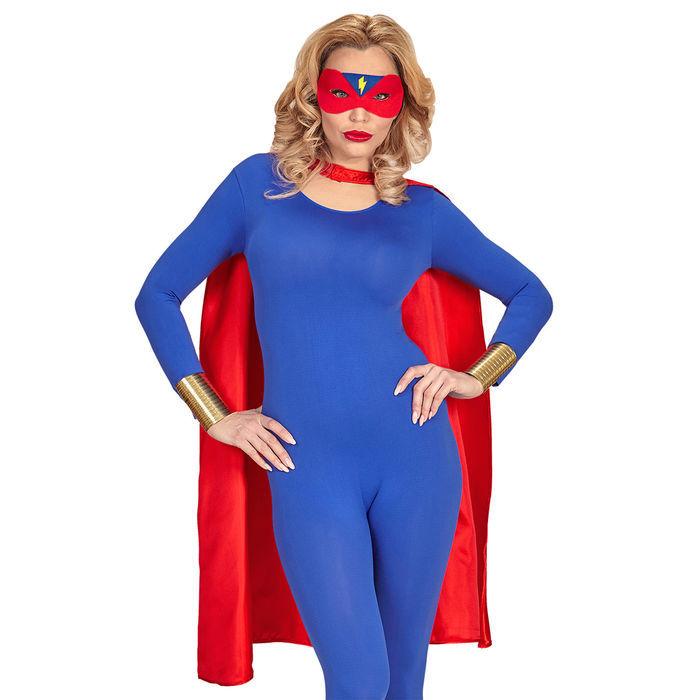 neu unisex kost m superheld umhang und augenmaske catwoman supergirl co kost me f r damen. Black Bedroom Furniture Sets. Home Design Ideas