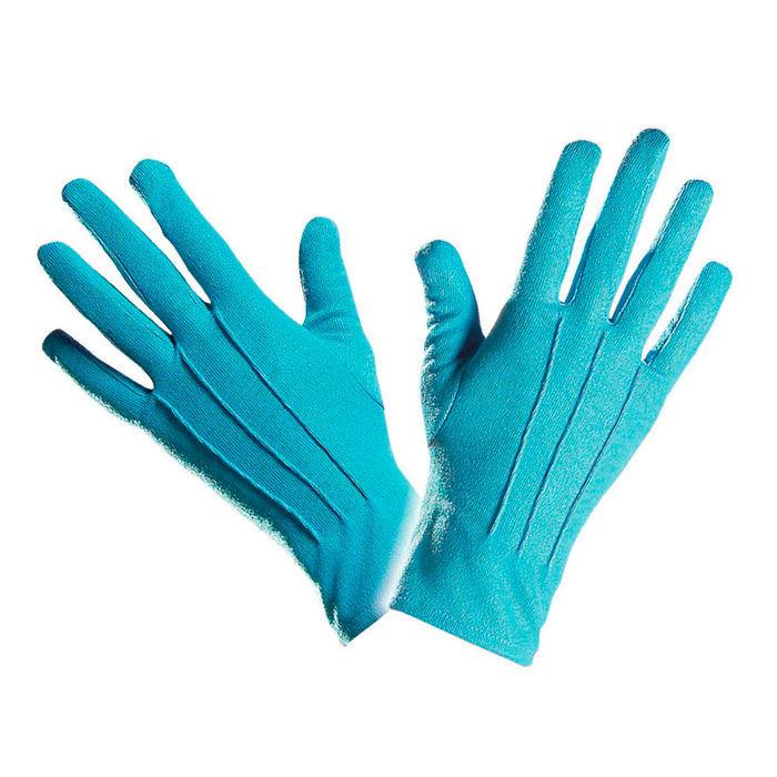 78f511c7b4bcd0 Handschuhe, türkis, one size - Handschuhe Kostüm-Accessoires Basic ...