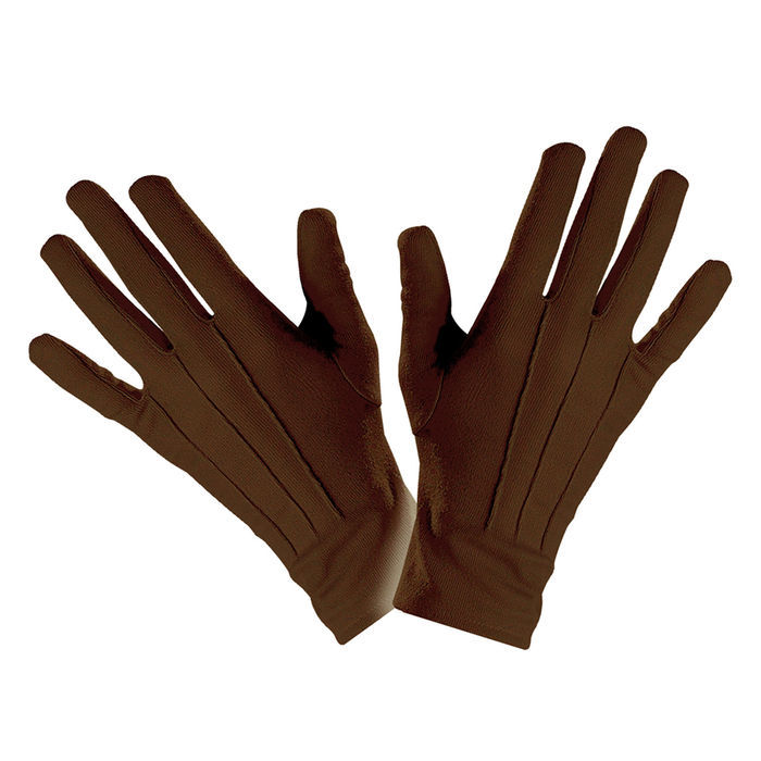 3e4a0f6e575637 Handschuhe, braun, one-size - Handschuhe Kostüm-Accessoires Basic ...