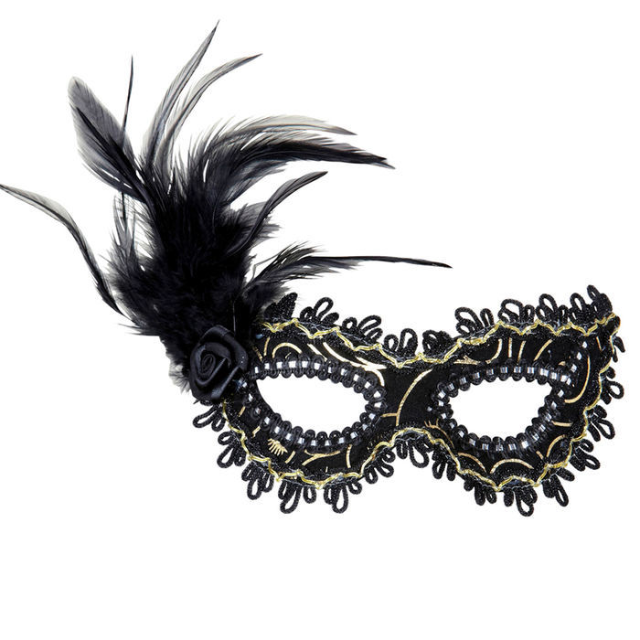 Augenmaske Spitze Schwarz Maske Filigran Maskenball Masquerade Accessoire Kostüm