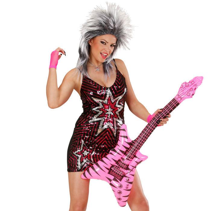 Gitarre rock aufblasbar 95 cm accessoires 80er jahre for Accessoires 80er party